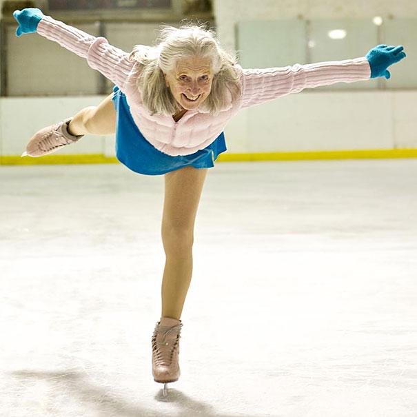 87歳のアイススケーターおばあちゃん