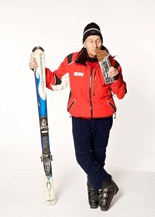 96歳のマウンテンスキーヤー