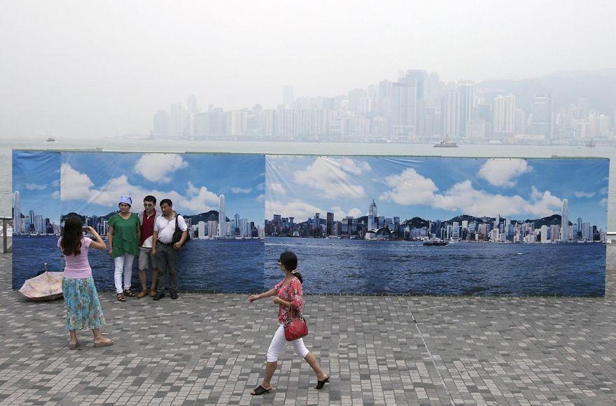 香港のハリボテのスカイライン