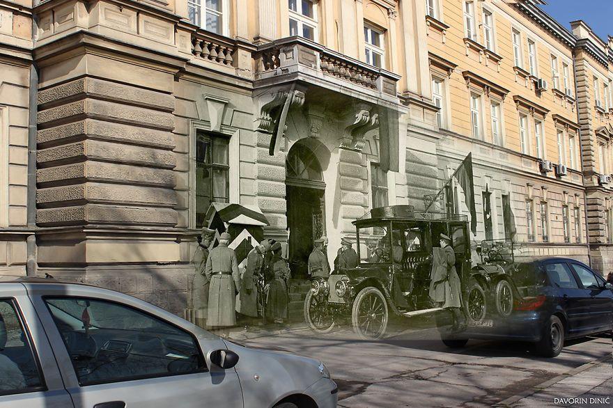 【街に歴史あり】セルビアの今と昔の写真を合成してみたらなんとも言えない気持ちに