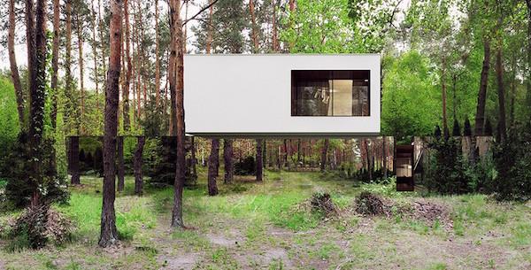 え?なにこれ?どうなってるの?森の中に建つ見えない家がすごすぎる