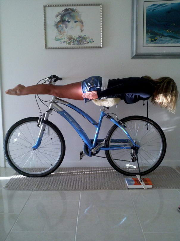 Plankin-On-Bike